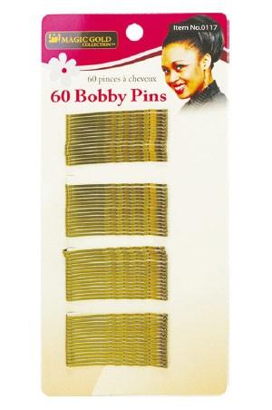[Magic Gold-#0117] 60 Bobby Pins (Gold) -dz