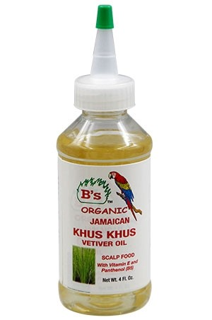 [B's Organic-box#26] Khus Khus Oil-Scalp Food (4oz)