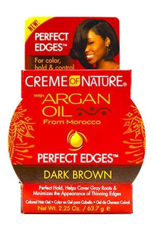 [Creme of Nature-box#119] Argan Oil Perfect Edges-D. Brown(2.25oz)