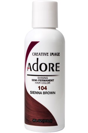 [Adore-box#1] Semi Permanent Hair Color (4 oz)- #104 Sienna Brown