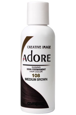 [Adore-box#1] Semi Permanent Hair Color (4 oz)- #108 Medium Brown
