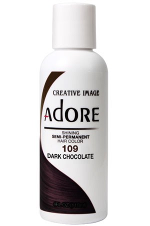 [Adore-box#1] Semi Permanent Hair Color (4 oz)- #109 Dark Chocolate