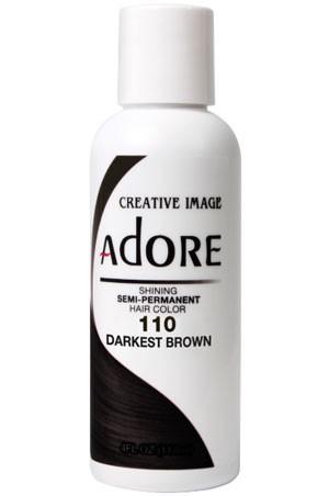 [Adore-box#1] Semi Permanent Hair Color (4 oz)- #110 Darkest Brown
