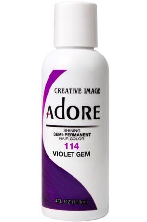 [Adore-box#1] Semi Permanent Hair Color (4 oz)- #114 Violet Gem