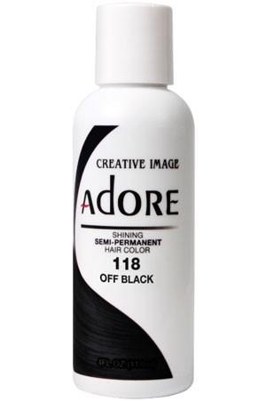 [Adore-box#1] Semi Permanent Hair Color (4 oz)- #118 Off Black