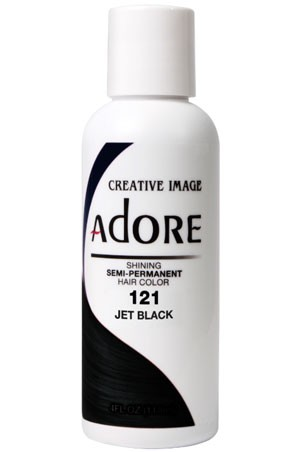 [Adore-box#1] Semi Permanent Hair Color (4 oz)- #121 Jet Black
