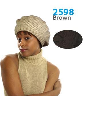 Winter Hat #2598 Brown - pc