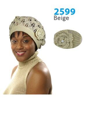 Winter Hat #2599 Beige - pc