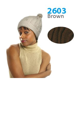 Winter Hat #2603 Brown - pc