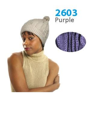 Winter Hat #2603 Purple - pc