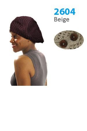 Winter Hat #2604 Beige - pc