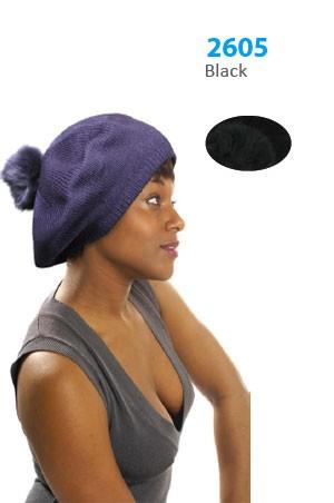 Winter Hat #2605BK - pc [Black]