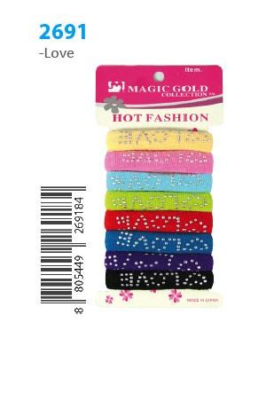 [#2691] MGC Hot Fashion Ponytail Holder -dz (LOVE)