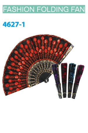 Magic Gold Fashion Folding Fan #4627-1 - dz