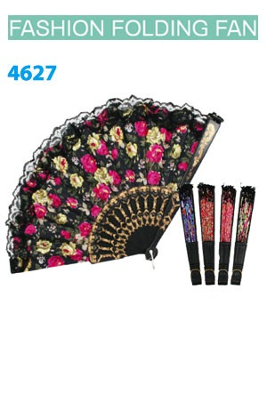 Magic Gold Fashion Folding Fan #4627 - dz