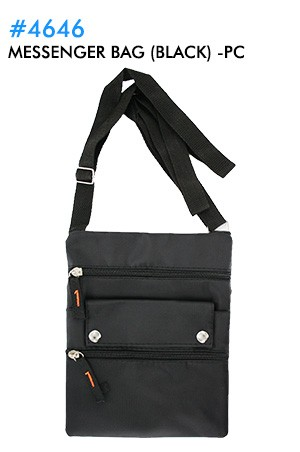 [#4646] Messenger Bag (black) -pc