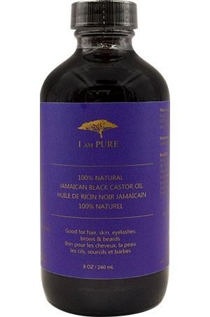 [I Am Pure-box#3] 100% Natural Jamaican Black Caster Oil (8oz)