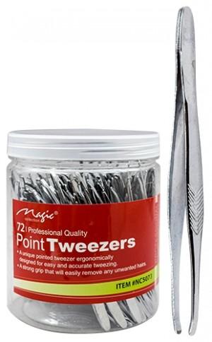 [Magic-#NC5073] Point Tweezers (72pc/jar)-jar