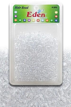 [#BR9SG] Eden XLG Blister Med Round Bead-Silver Glitter -pk
