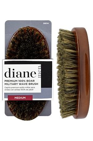 [#D8114] Diane 100% Boar Palm Wave Brush-Med -pc