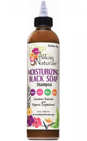 [Alikay Naturals-box#23] Moistrizing Black Soap Shampoo(8oz)