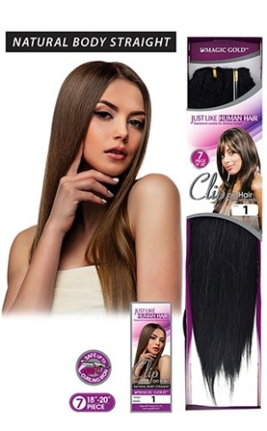 """7Pcs Clip On Just Like HH(straight)18-20"""""""