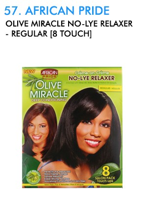[African Pride-box#57] Olive Miracle No-Lye Relaxer-Regular [8 Touch]