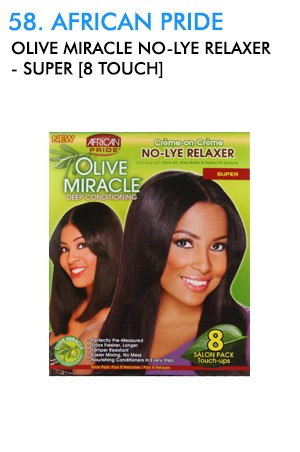 [African Pride-box#58] Olive Miracle No-Lye Relaxer-Super [8 Touch]
