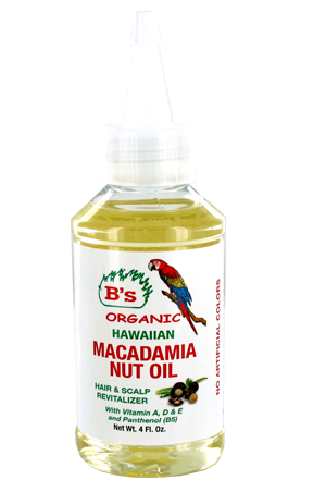 [B's Organic-box#8] Macadamia Nut Oil _Hair&Scalp Revitalizer (4oz