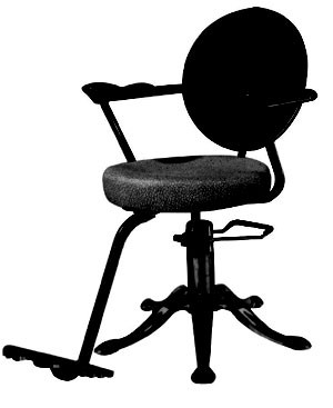 SALON CHAIR B81-1 Black