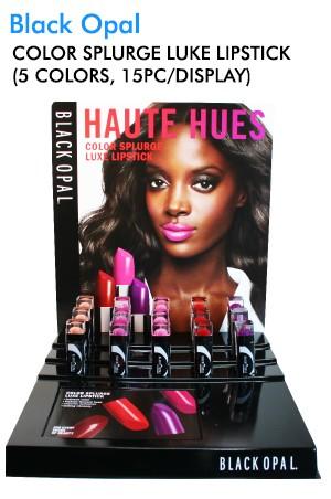 [Black Opal] Color Splurge Lipstick Display (5 colors, 15pc/display)