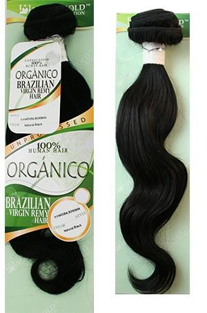 "[Organico Brazilian] HH-Natural Bohemian 14"" #Natural Black"