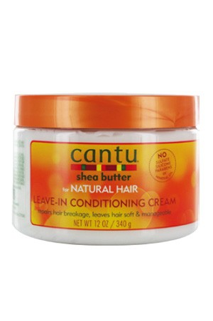 [Cantu-box#26] Shea Butter Natural Hair Leave In Conditioning Cream (12 oz)