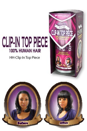 100% Human Hair  Clip-In Top Piece