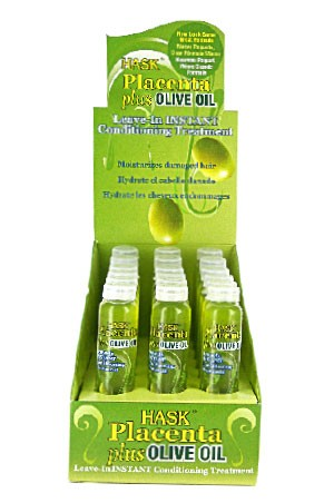 [Hask-box#6A] Hair Treatment - Olive Oil (18ml/18pc/ds)