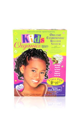 [Africa's Best-box#71] Kid's Organics Conditioning Relaxer System - Regular [2 complete kits]