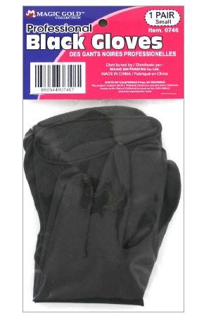 [#0748] Black Latex Gloves (Large) -pk