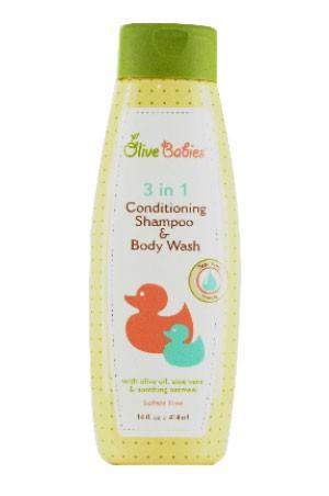 [Olive Babies-box#2] 3N1 Conditioning Shampoo & Body Wash (14 oz)