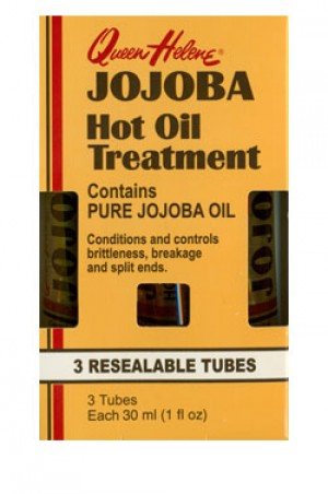 [Queen Helene-box#54] Jojoba Hot Oil Treatment (1 oz, 3 Resealable Tubes)