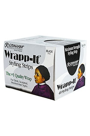 [Sanek-#37150] Wrapp-It [Black] (40 strips/bx) -bx