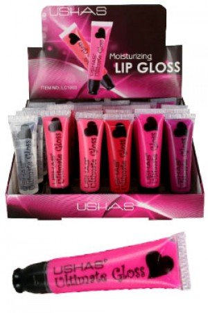 [USHAS-#LC1003] Moisturizing Lip gloss (15 ml/24 pcs/display)