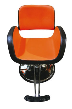 SALON CHAIR Y75-1 Orange & D. Brown