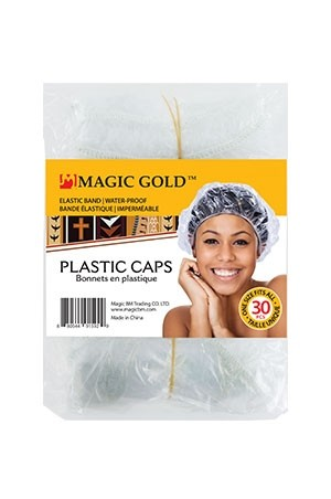 [Magic Gold#1592] 30pcs Shower Caps -Clear