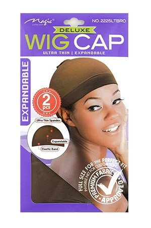 [Magic Collection #2225LTBRO] Deluxe Wig Cap (Light Brown)-dz