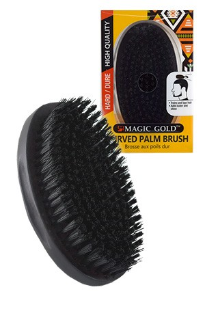 [#6812] Magic Gold Hard Curved Palm Brush  -pc