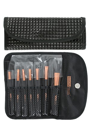 [BTS149-box#71] 7pc Brush Set in Pouch_Black Pyramid