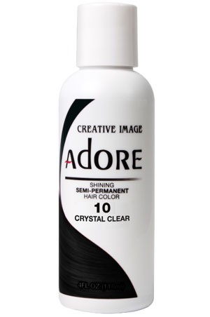 [Adore-box#1] Semi Permanent Hair Color (4 oz)- #10 Crystal Clear