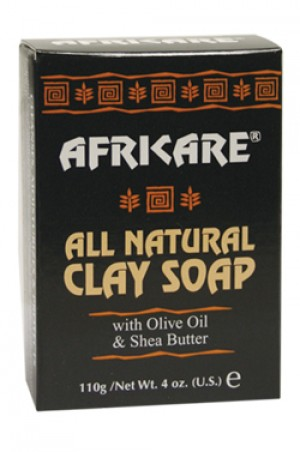 [Africare-box#4] All Natural Clay Soap (4 oz)