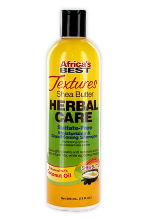 [Africa's Best-box#99] Texture Herbal Care Moist&Cond Shamp(12oz)
