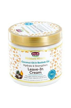 [African Pride-box#76] Moist Miracle Coconut & Baobab Leave-In Cream (15 oz)